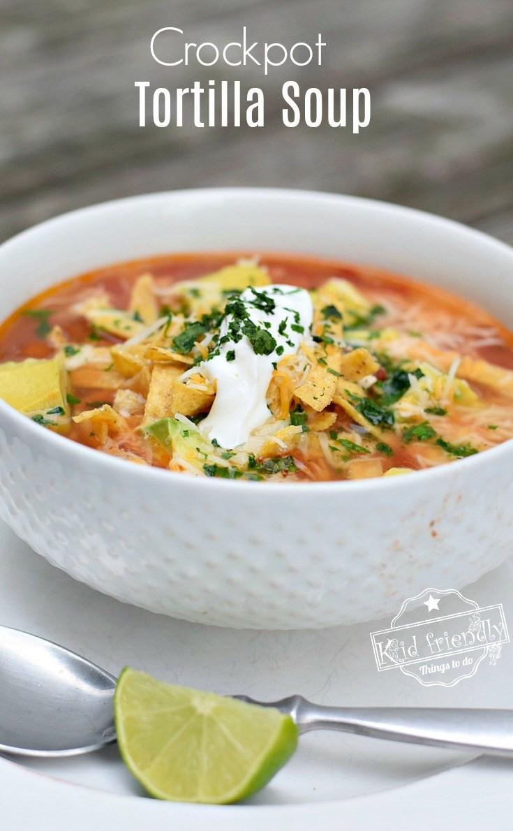 Healthy Chicken Tortilla Soup Recipe  Easy and Healthy Slow Cooker Chicken Tortilla Soup Recipe