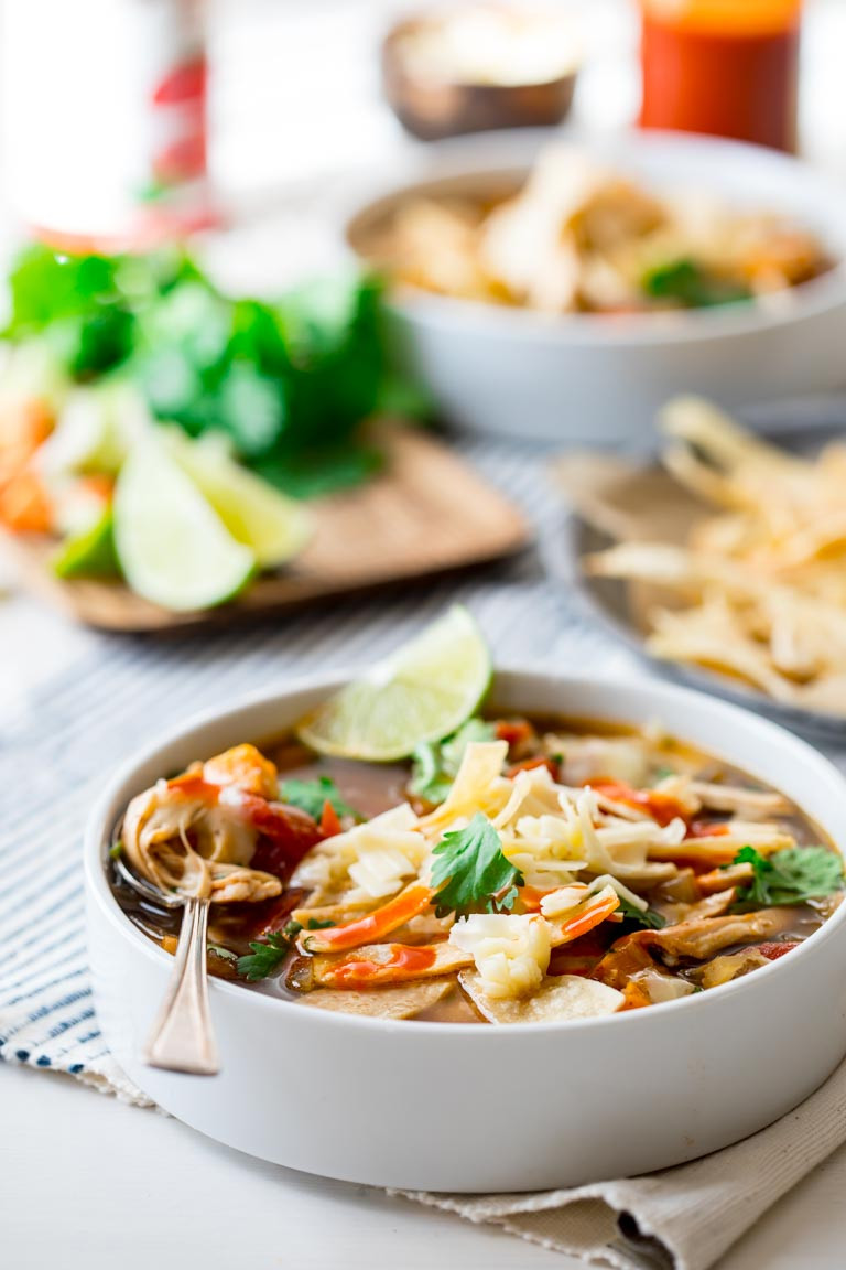 Healthy Chicken Tortilla Soup Slow Cooker  slow cooker chicken tortilla soup Healthy Seasonal Recipes