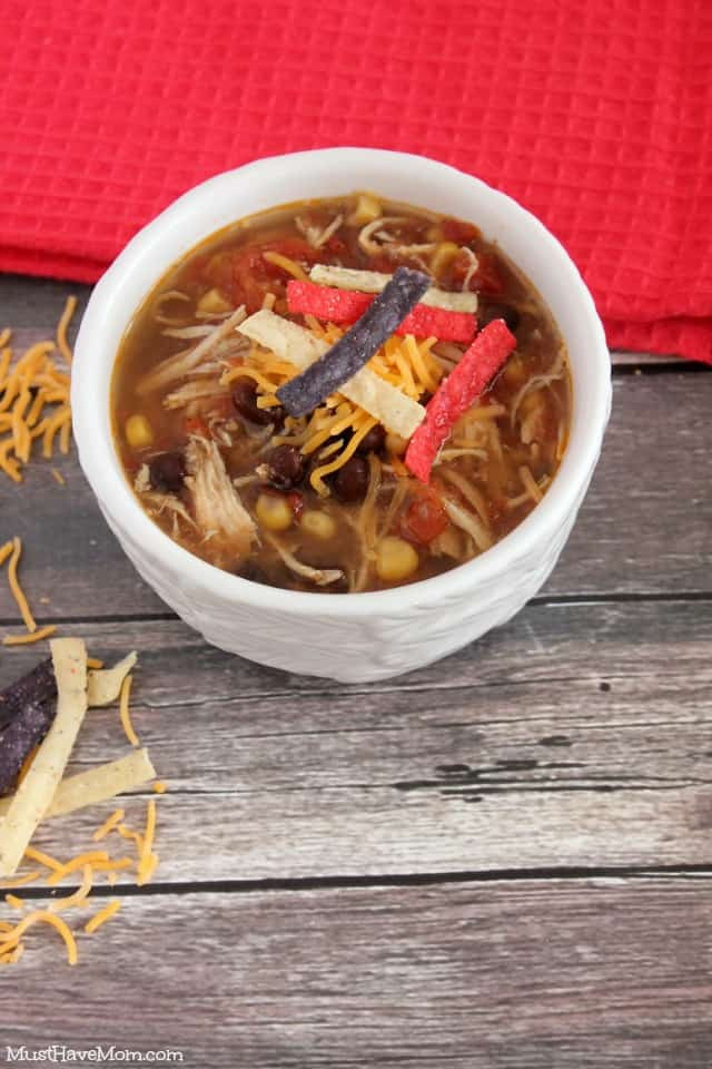 Healthy Chicken Tortilla Soup Slow Cooker  Healthy Chicken Tortilla Soup Slow Cooker Recipe