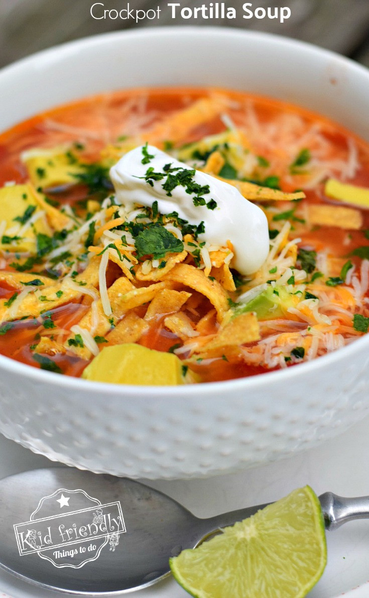 Healthy Chicken Tortilla Soup Slow Cooker  Easy and Healthy Slow Cooker Chicken Tortilla Soup Recipe