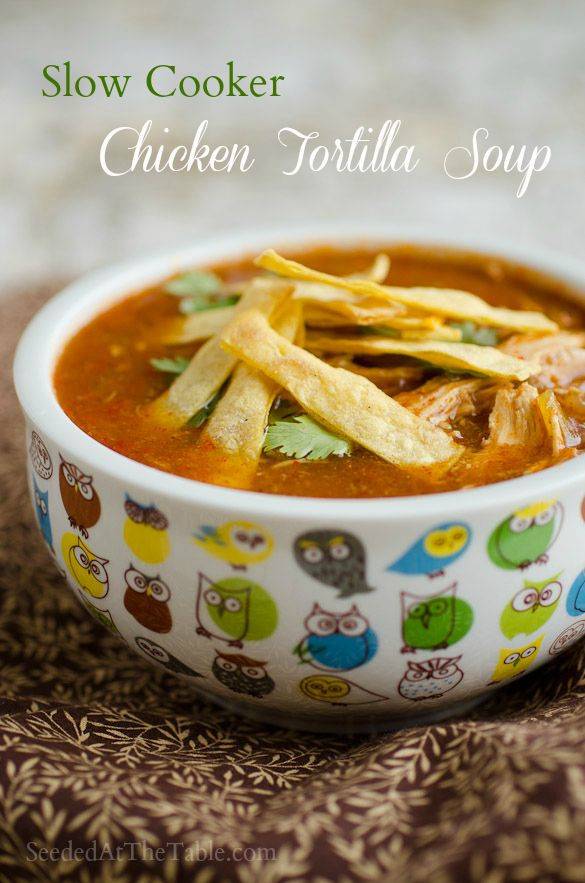 Healthy Chicken Tortilla Soup Slow Cooker  Slow Cooker Chicken Tortilla Soup Recipe