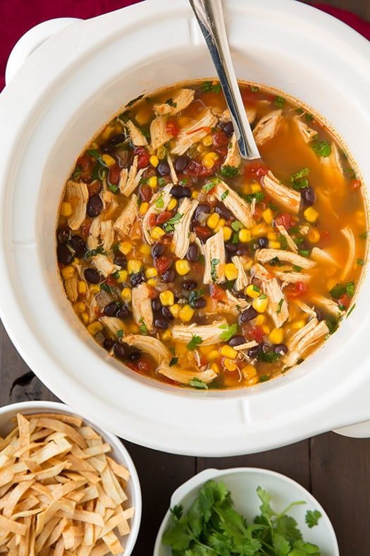 Healthy Chicken Tortilla Soup Slow Cooker  50 Healthy Slow Cooker Recipes Primavera Kitchen