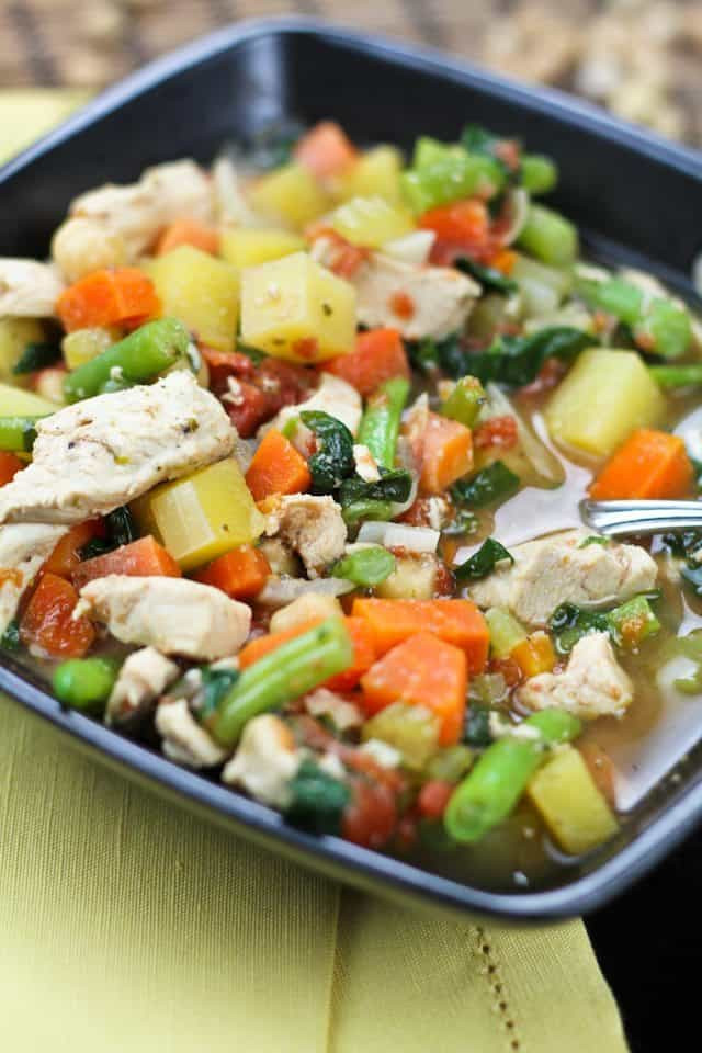 Healthy Chicken Vegetable Soup  Chicken Ve able Soup • The Healthy Foo