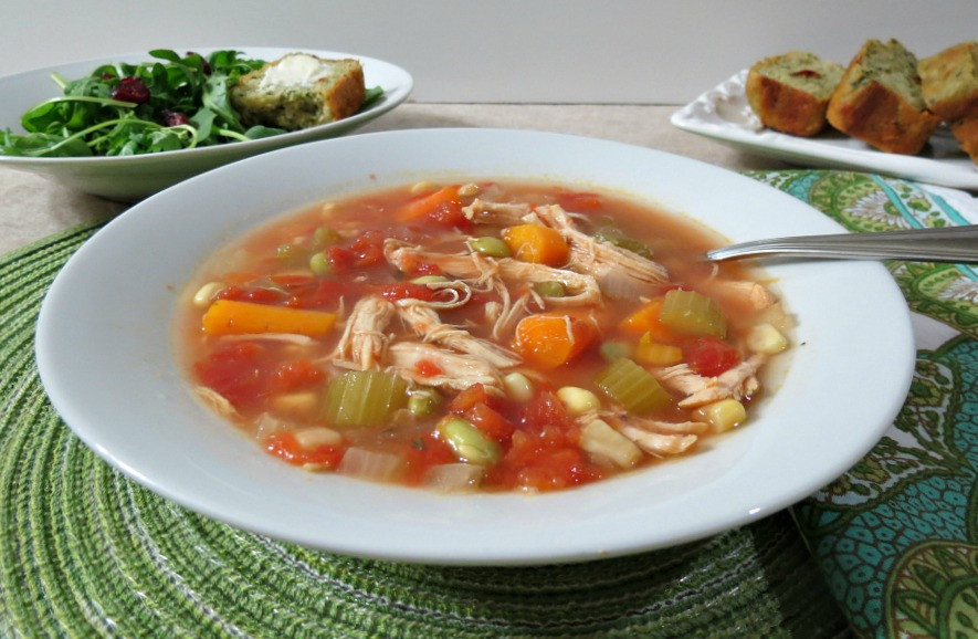 Healthy Chicken Vegetable Soup  Chicken Ve able Soup Weekly Recap