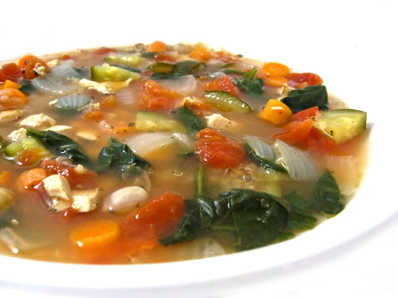 Healthy Chicken Vegetable Soup  Deliciously Healthy Chicken Ve able and Quinoa Soup