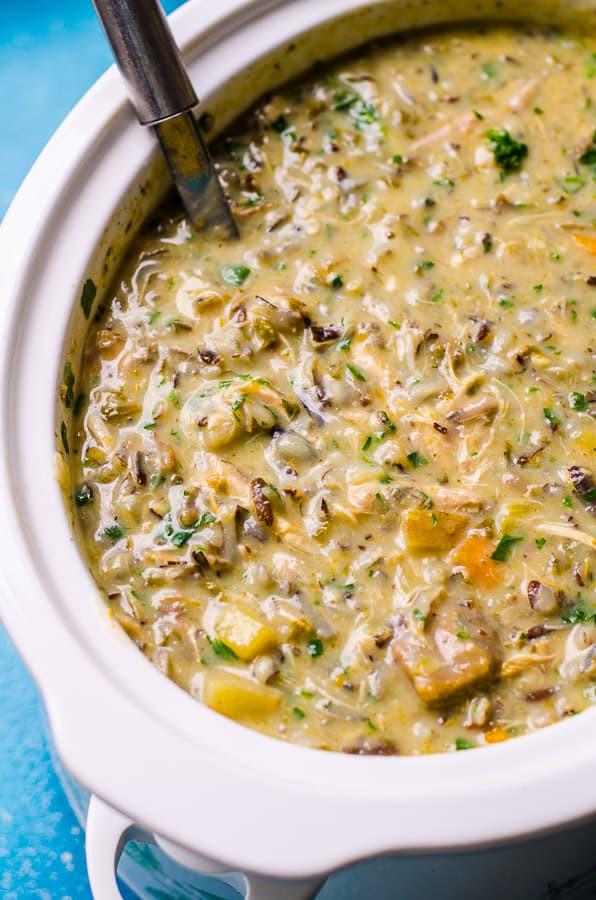Healthy Chicken Wild Rice Soup  Healthy Chicken Wild Rice Soup iFOODreal Healthy