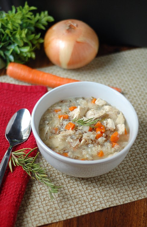 Healthy Chicken Wild Rice Soup  Becky Cooks Lightly 51 Healthy Soup Recipes