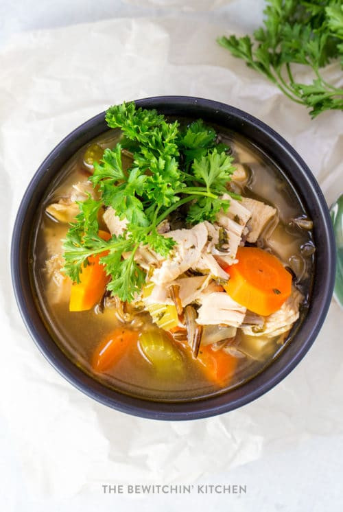 Healthy Chicken Wild Rice Soup  Chicken and Wild Rice Soup