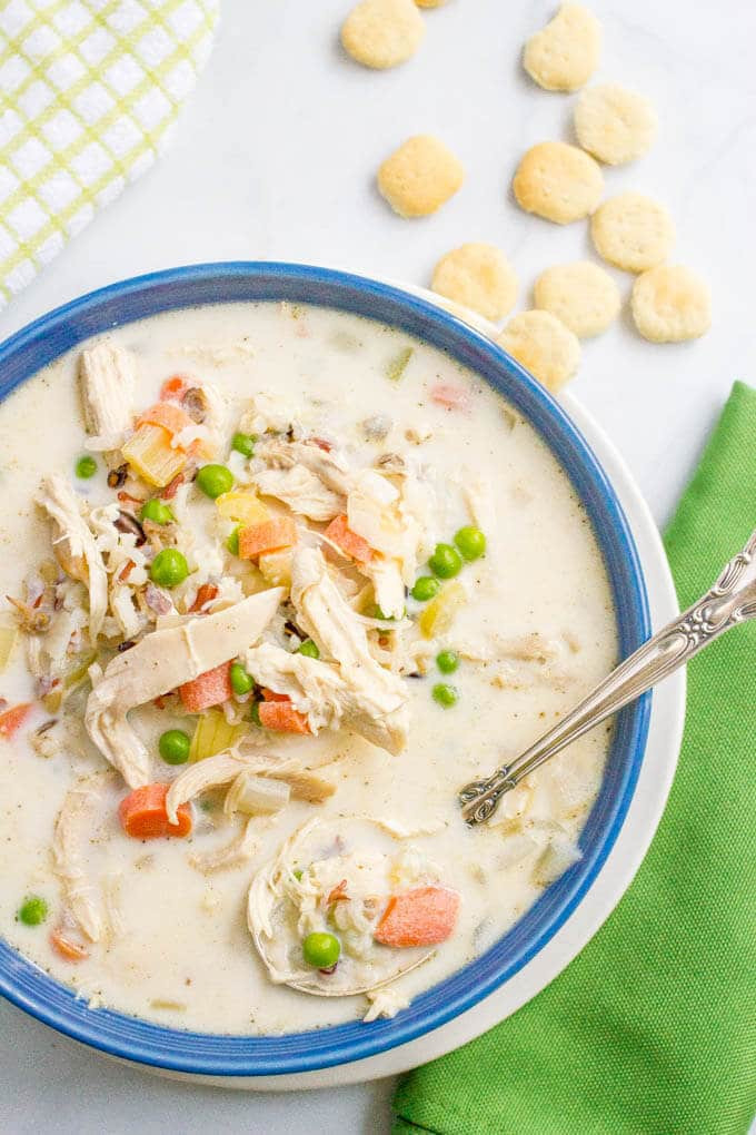 Healthy Chicken Wild Rice Soup  Healthy creamy chicken and wild rice soup Family Food on