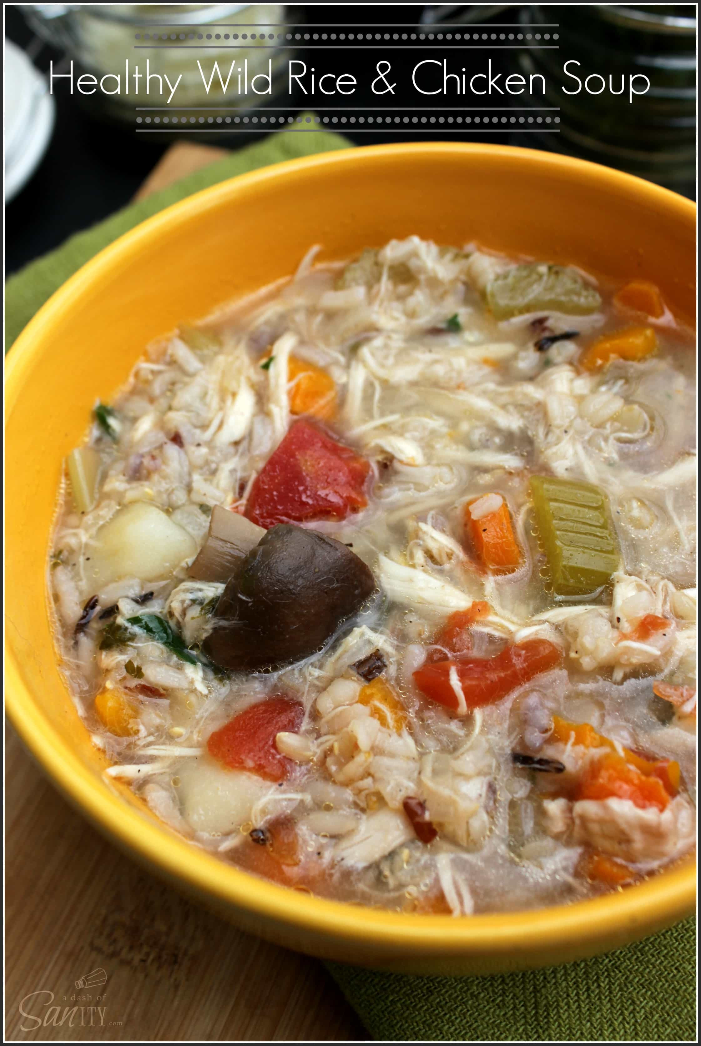 Healthy Chicken Wild Rice Soup  Healthy Wild Rice & Chicken Soup A Dash of Sanity