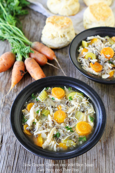 Healthy Chicken Wild Rice Soup  Slow Cooker Chicken and Wild Rice Soup