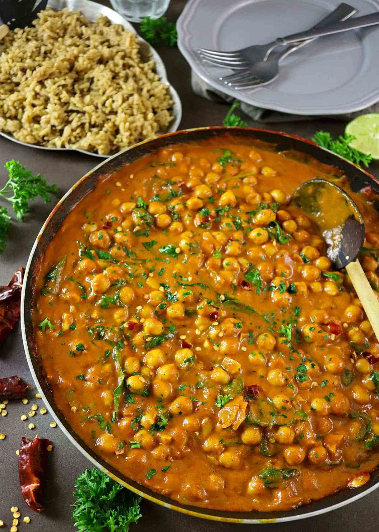 Healthy Chickpea Recipes  Easy Chickpea & Spinach Curry Healthy Recipes with a