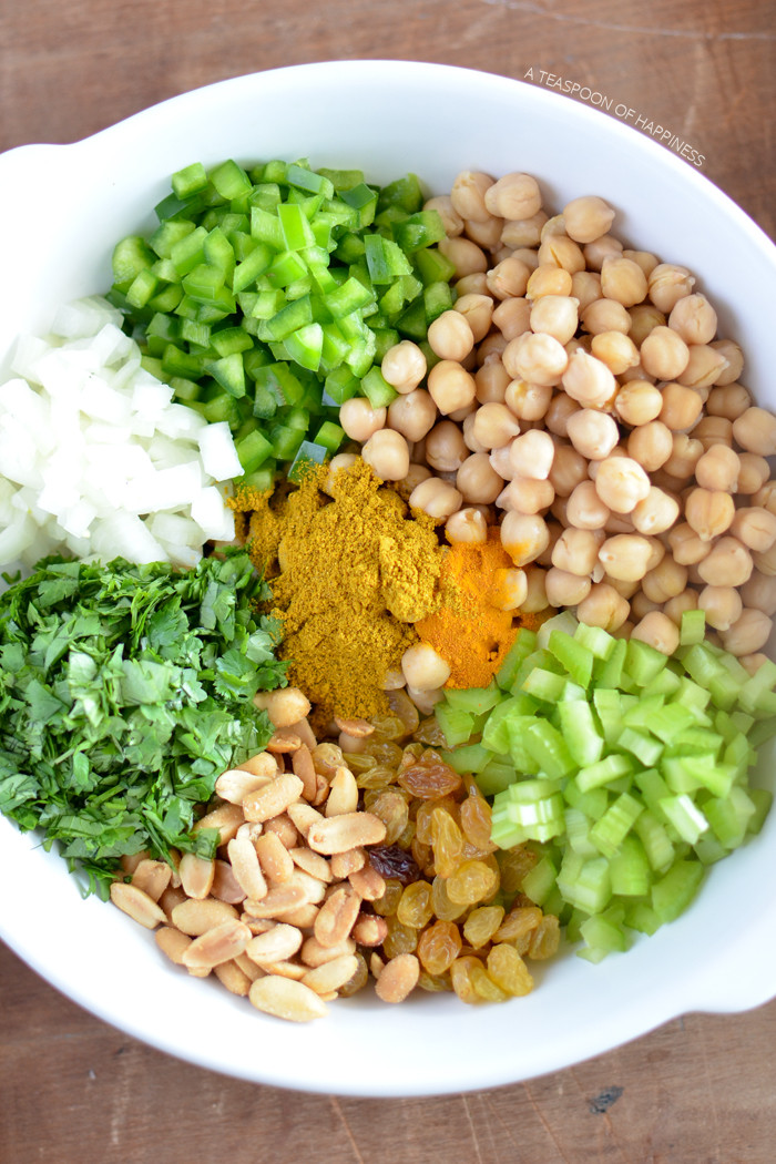 Healthy Chickpea Recipes  Curry Chickpea Salad Simply Whisked