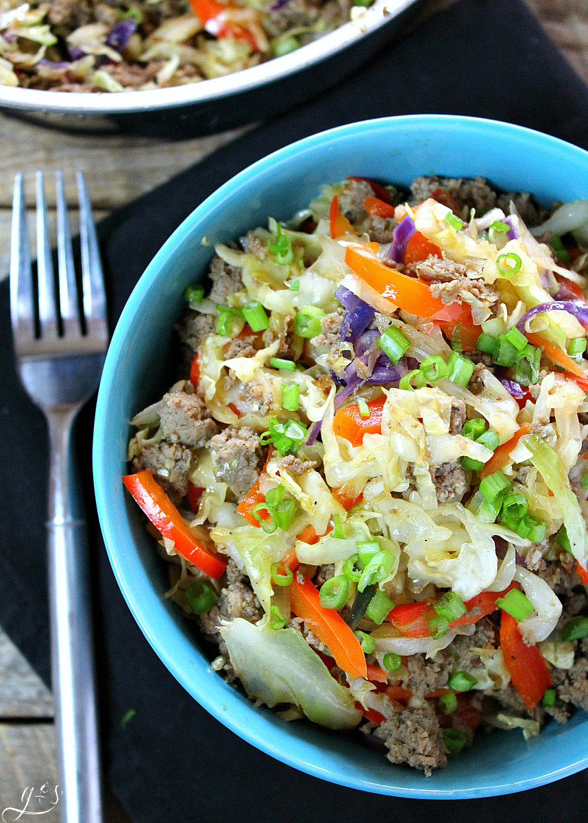 Healthy Chinese Food Recipes  7 Ingre nt Skinny Egg Roll Bowl