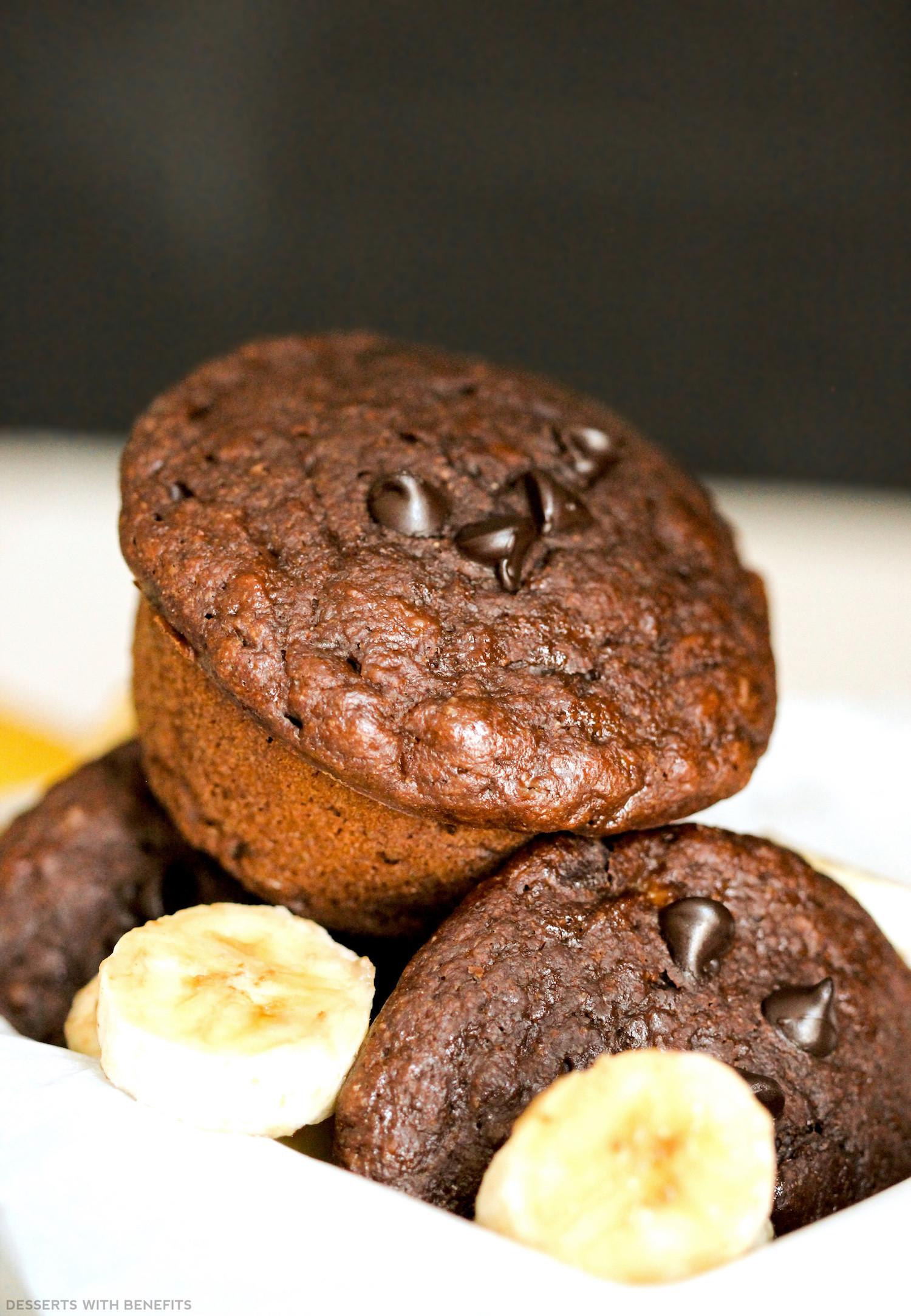 Healthy Chocolate Banana Muffins  Healthy Chocolate Banana Muffins refined sugar free low