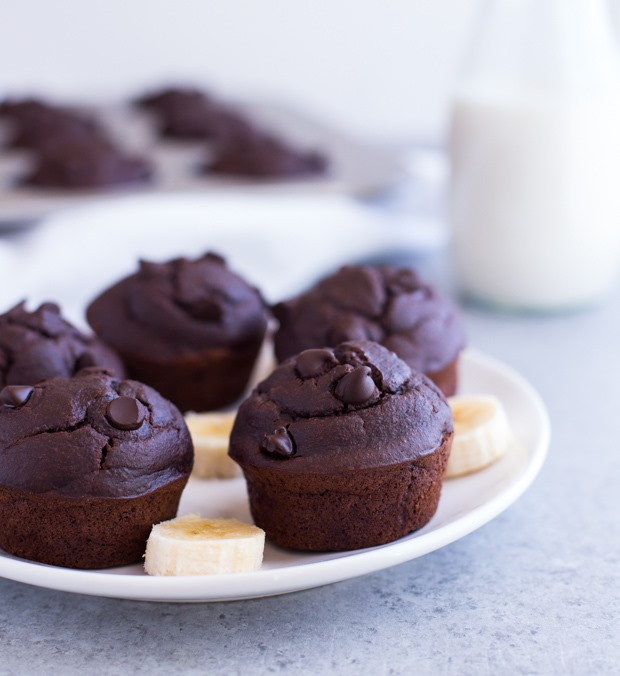 Healthy Chocolate Banana Muffins  Healthy Chocolate Peanut Butter Banana Muffins Making