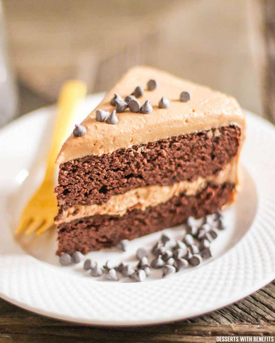 Healthy Chocolate Cake Recipe  Healthy Chocolate Cake with Peanut Butter Frosting Sugar
