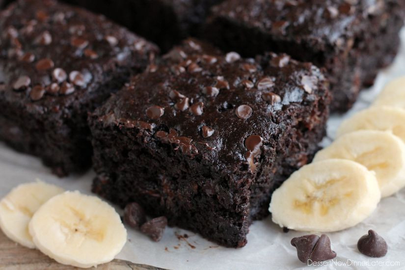 Healthy Chocolate Cake With Applesauce  Double Chocolate Banana Cake