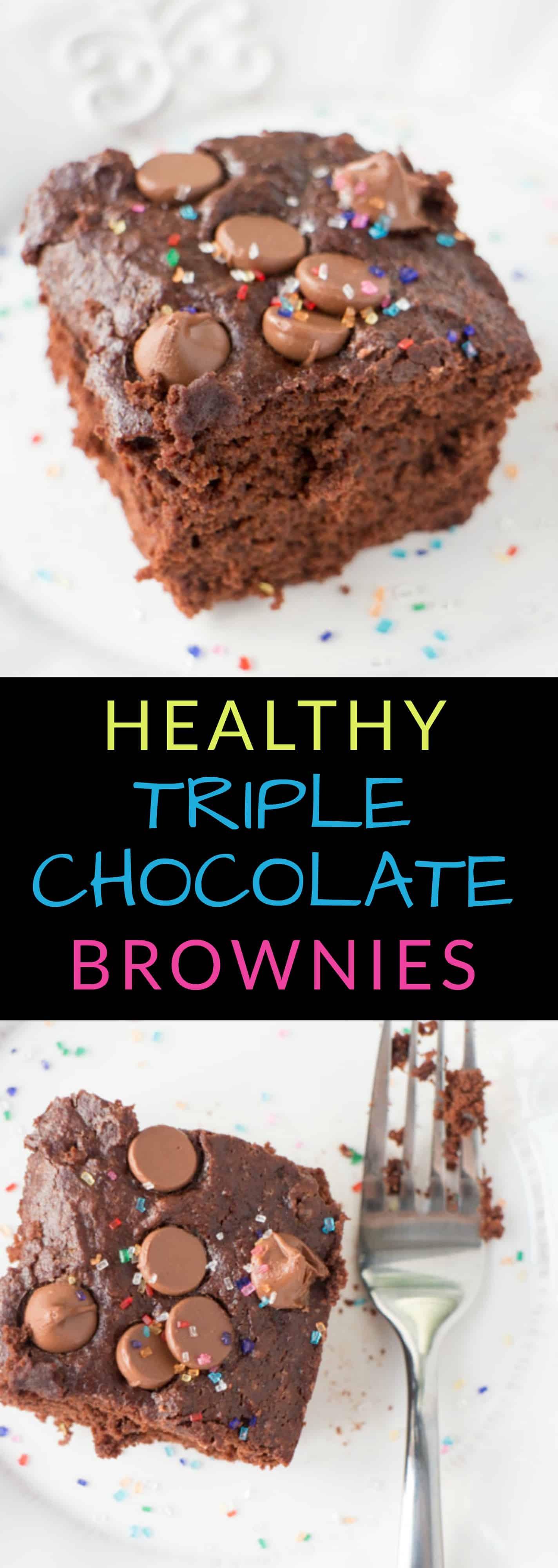 Healthy Chocolate Cake With Applesauce  HEALTHY TRIPLE Chocolate Brownies Brooklyn Farm Girl