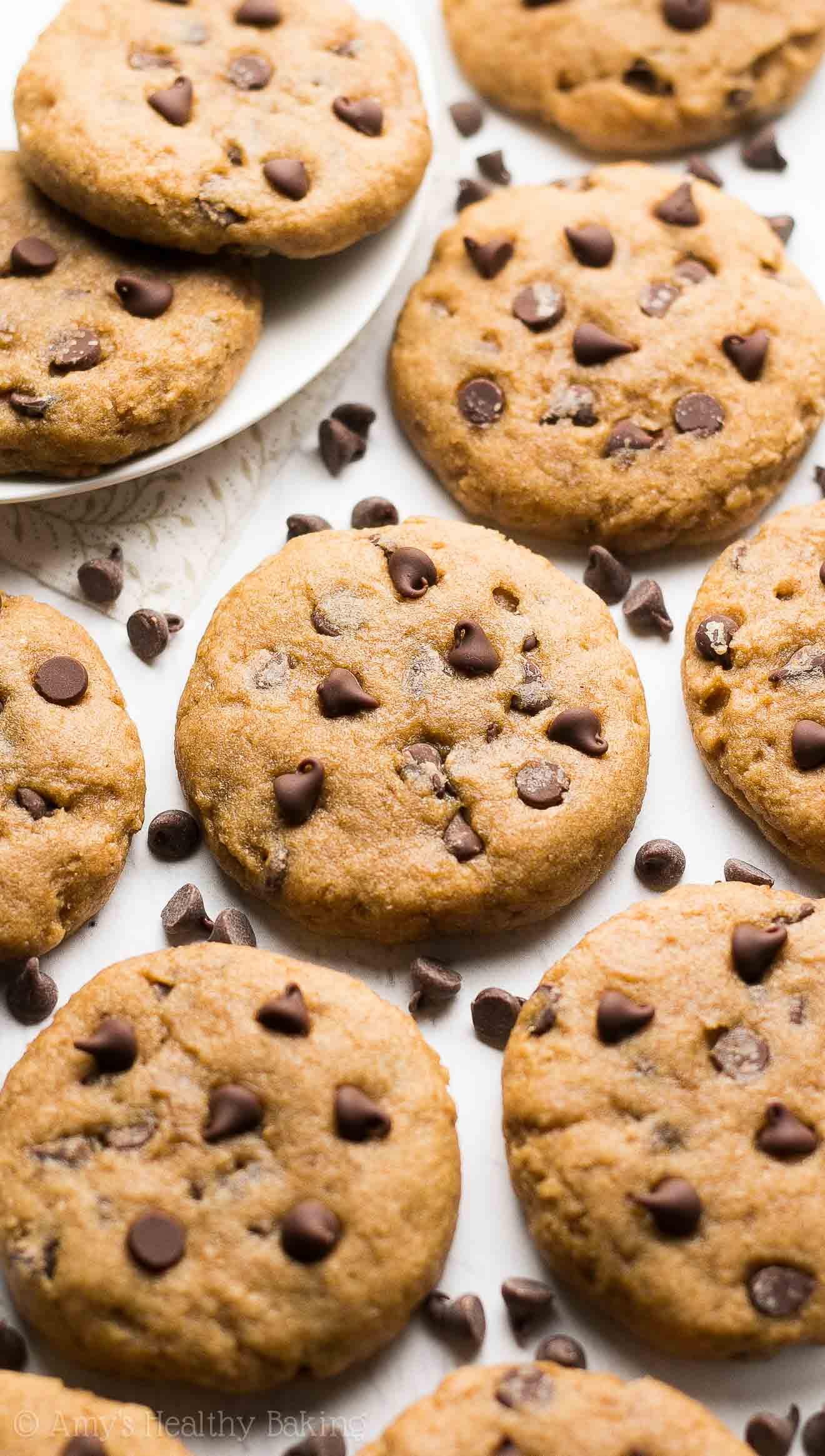 Healthy Chocolate Chip Cookies  Healthy Banana Chocolate Chip Cookies Recipe Video