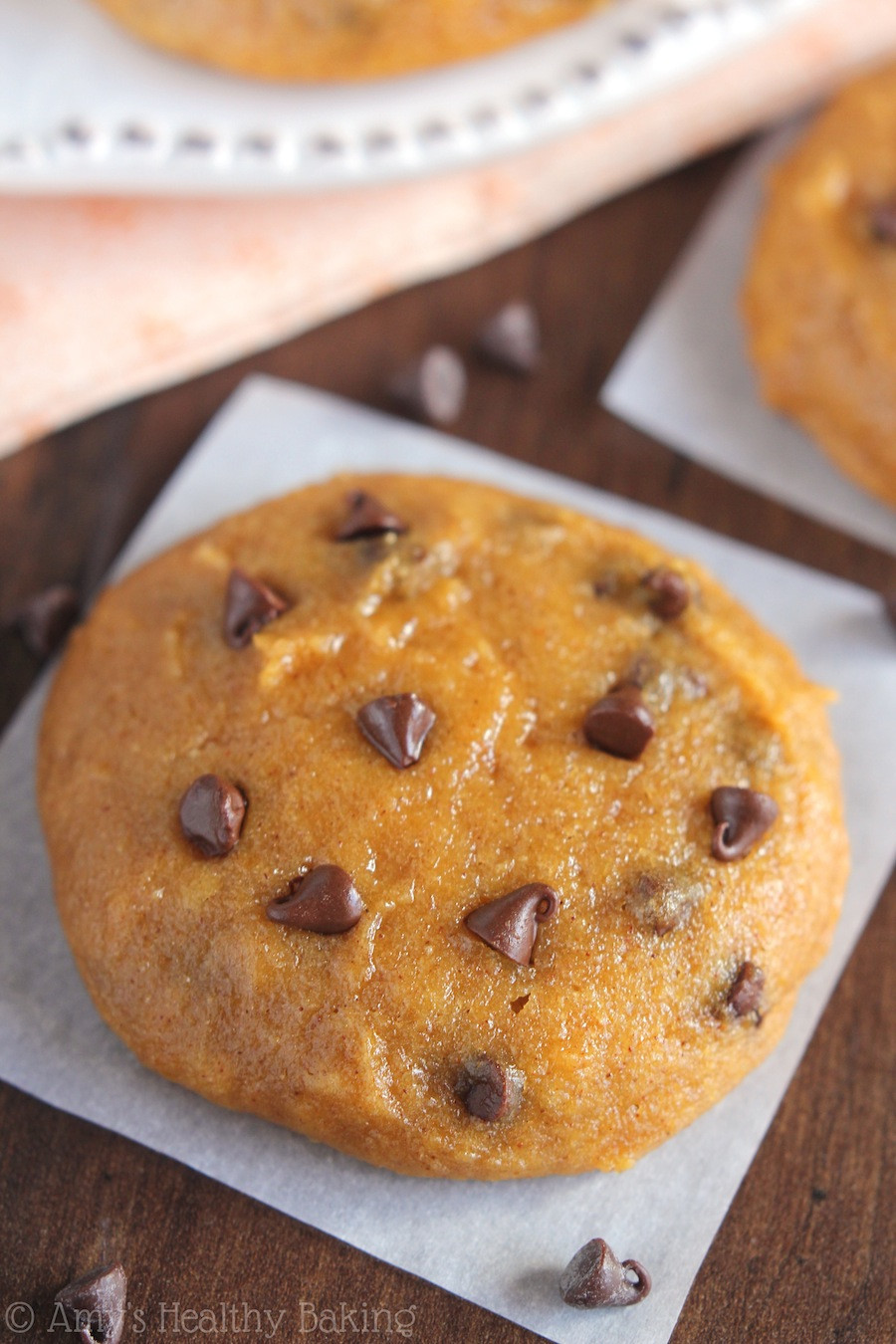 Healthy Chocolate Chip Cookies  Ultimate Healthy Soft & Chewy Pumpkin Chocolate Chip