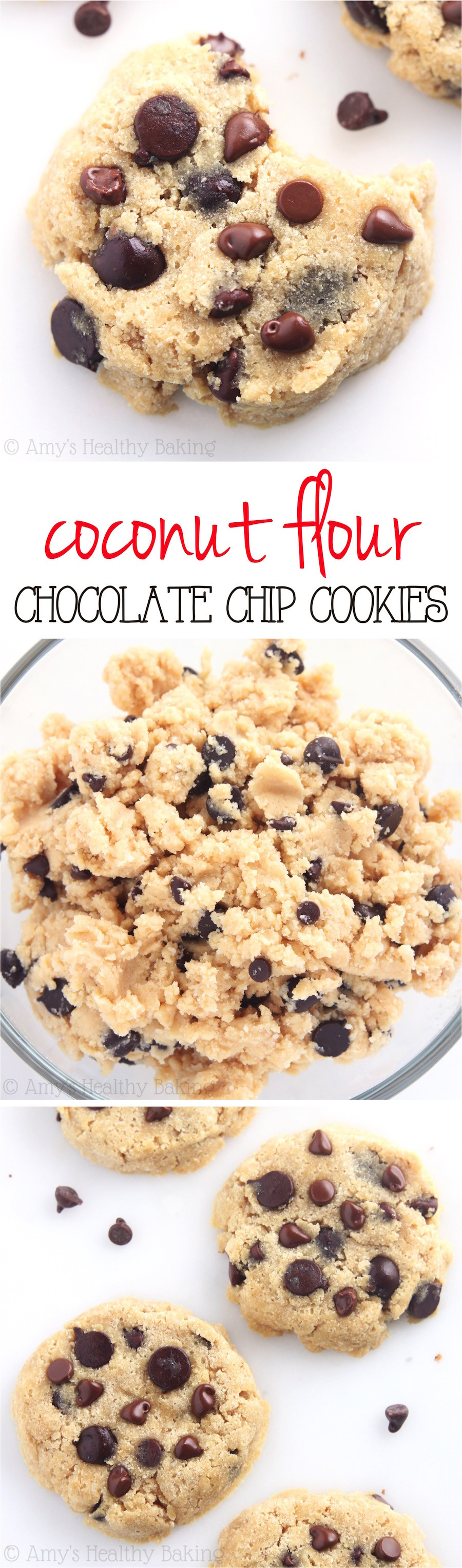 Healthy Chocolate Chip Cookies  keto chocolate chip cookies coconut flour