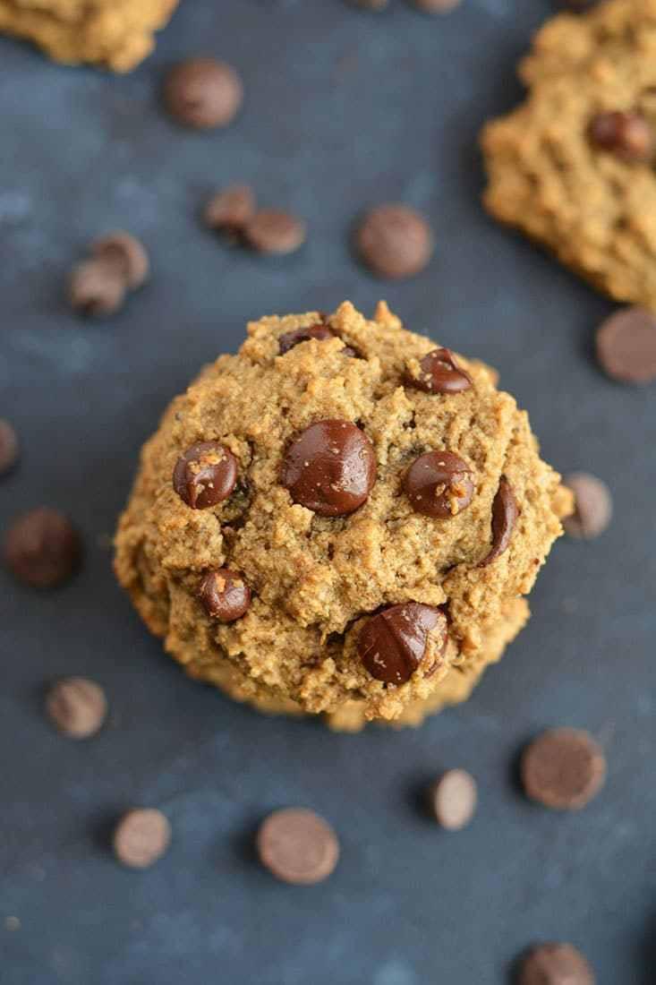 Healthy Chocolate Chip Cookies  Skinny Chocolate Chip Cookies Vegan GF Low Cal