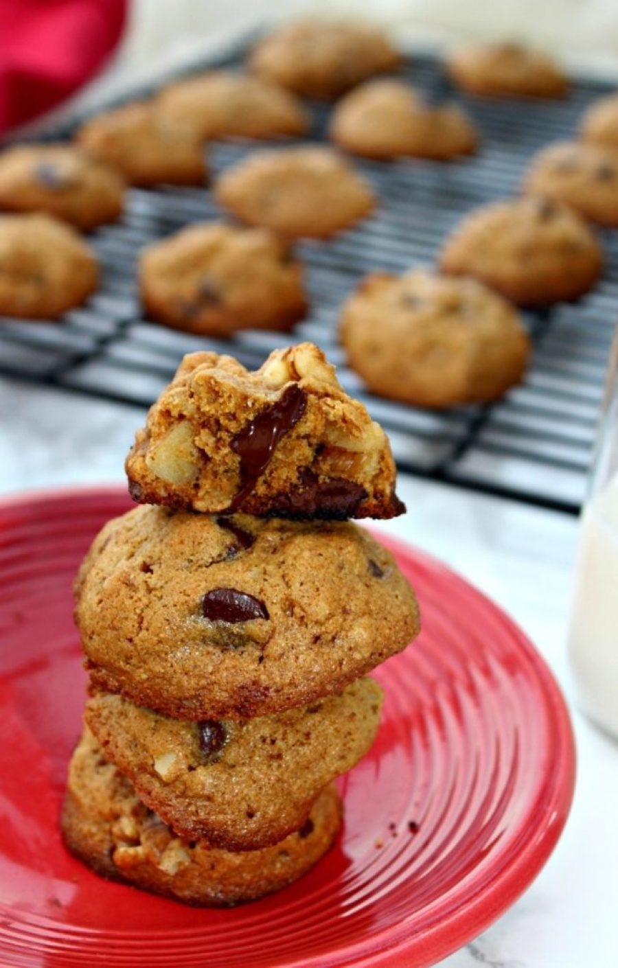 Healthy Chocolate Chip Cookies  Healthy Chocolate Chip Cookies Christmascookies Simple