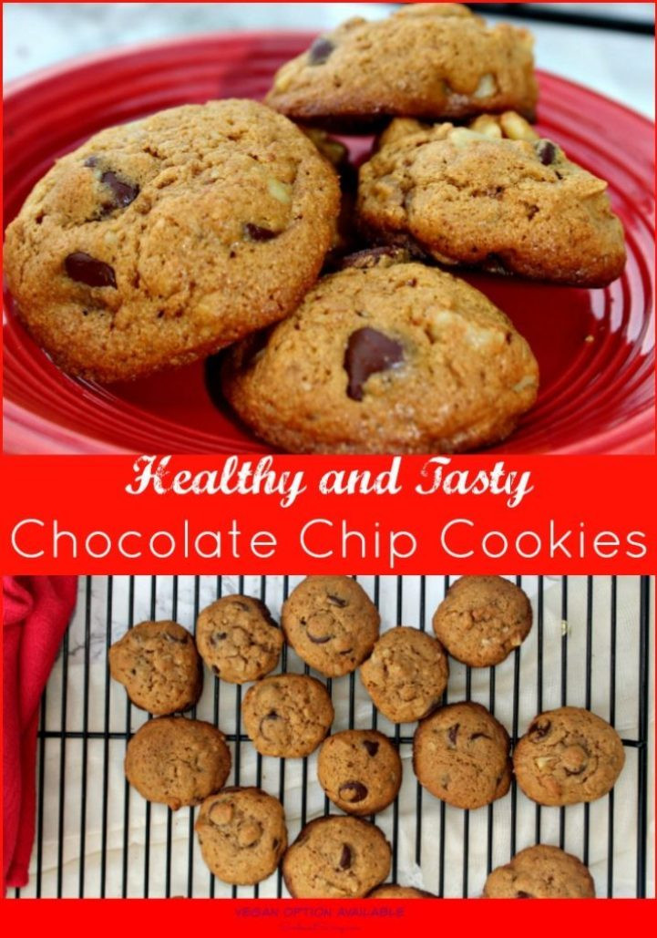 Healthy Chocolate Chip Cookies Recipe  Healthy Chocolate Chip Cookies Christmascookies Simple