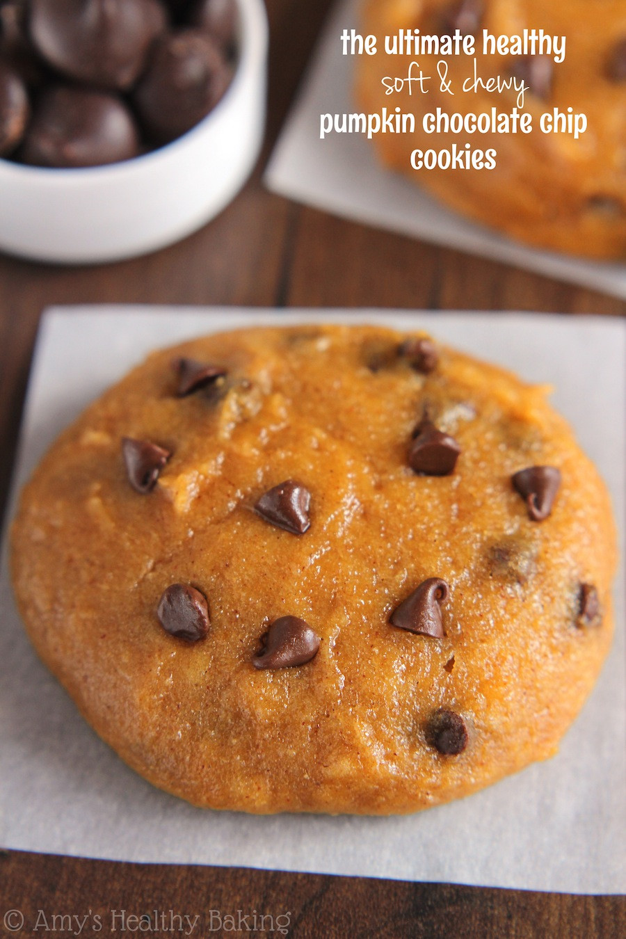 Healthy Chocolate Chip Cookies Recipe  The Ultimate Healthy Soft & Chewy Pumpkin Chocolate Chip