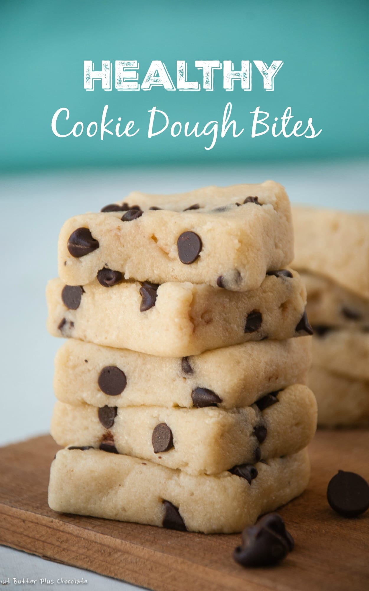 Healthy Chocolate Chip Cookies  Healthy Chocolate Chip Cookie Dough Bites — Peanut Butter