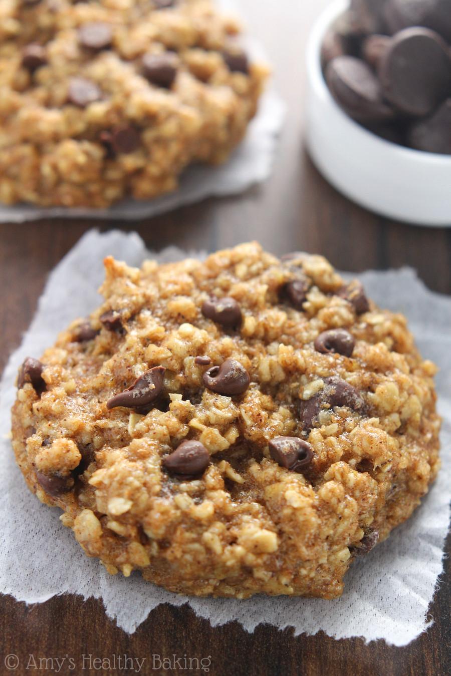 Healthy Chocolate Chip Cookies With Applesauce  breakfast cookies banana applesauce oats