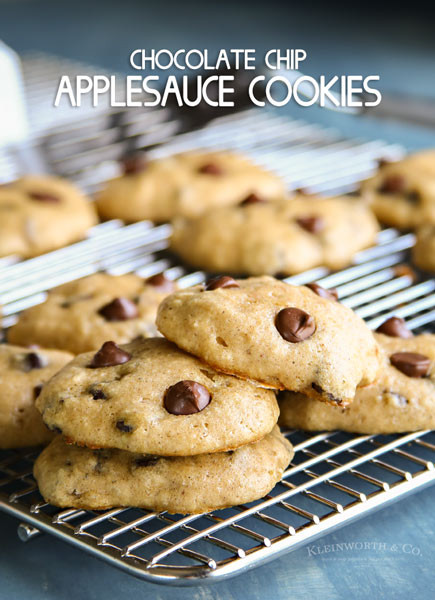 Healthy Chocolate Chip Cookies With Applesauce  Mixed Berry Fruit Leather Kleinworth & Co