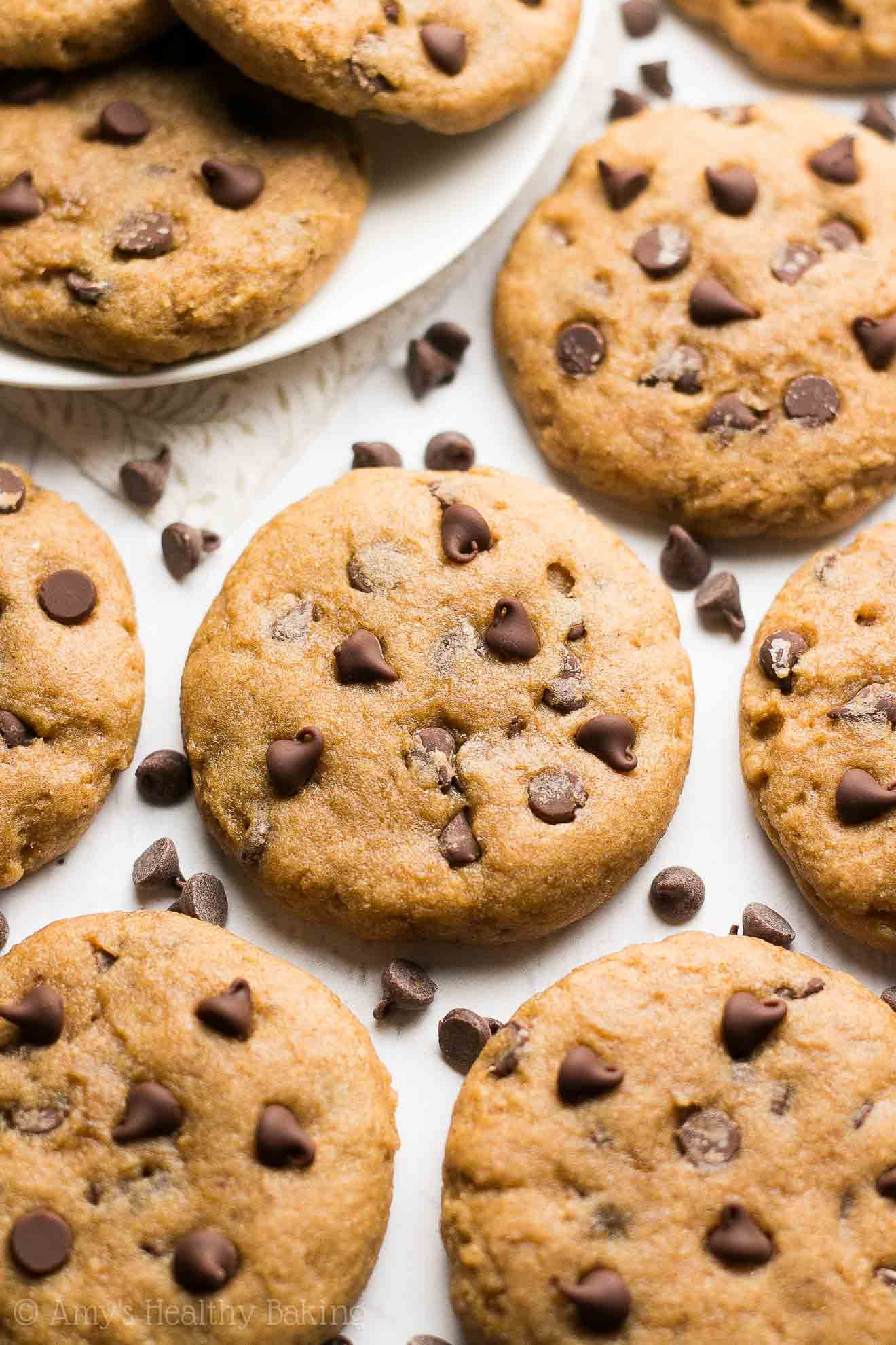 Healthy Chocolate Chip Cookies With Applesauce  banana applesauce chocolate chip cookies