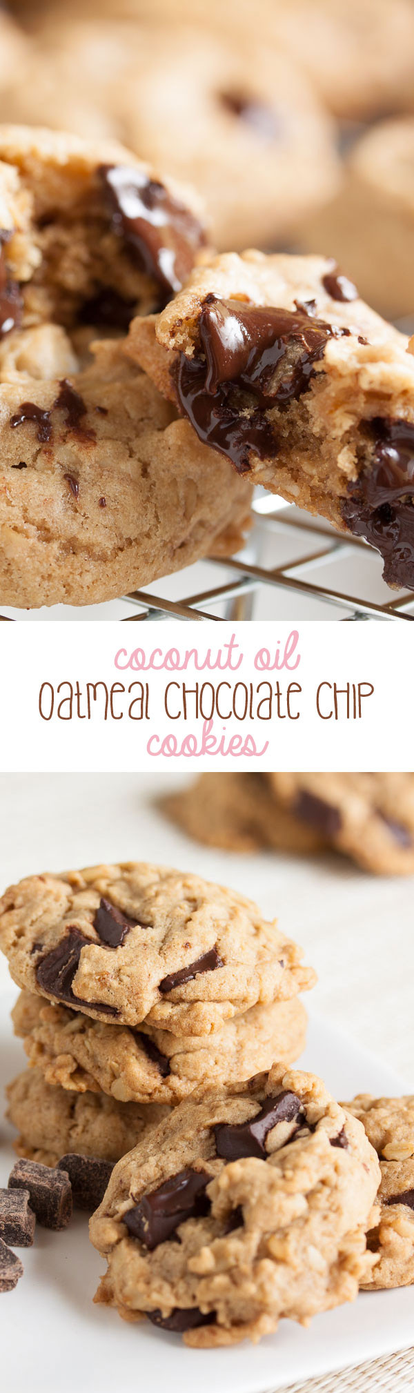 Healthy Chocolate Chip Cookies With Coconut Oil  Coconut Oil Oatmeal Chocolate Chip Cookies