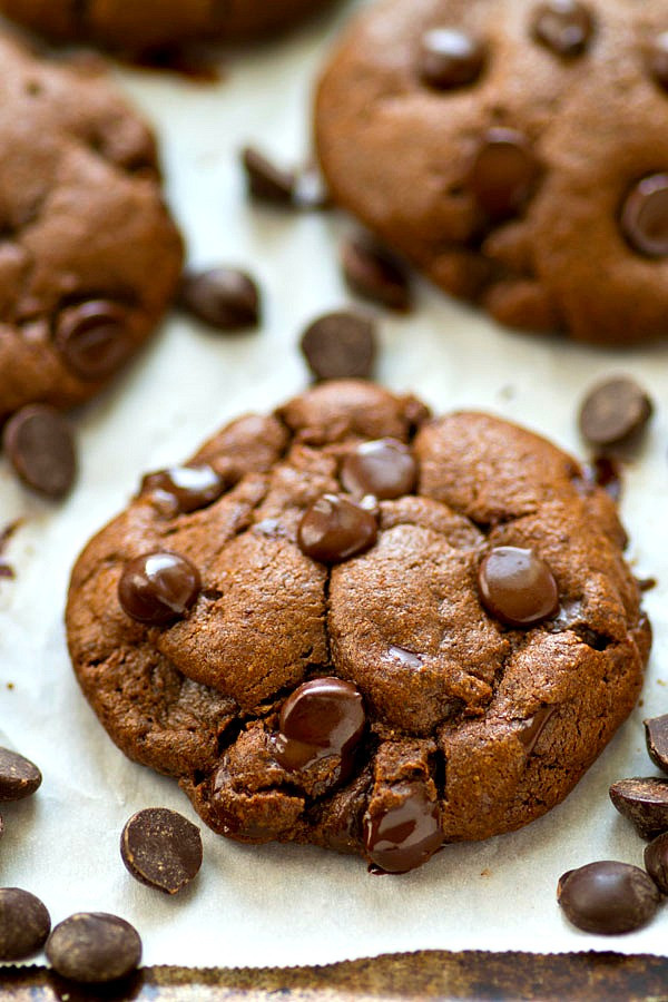 Healthy Chocolate Chip Cookies With Coconut Oil  Healthy Coconut Oil Double Chocolate Chip Cookies