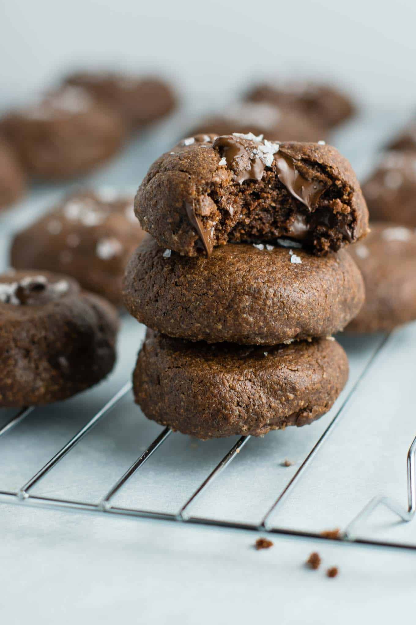 Healthy Chocolate Chip Cookies With Coconut Oil  Healthy Double Chocolate Chip Cookies with Sea Salt and