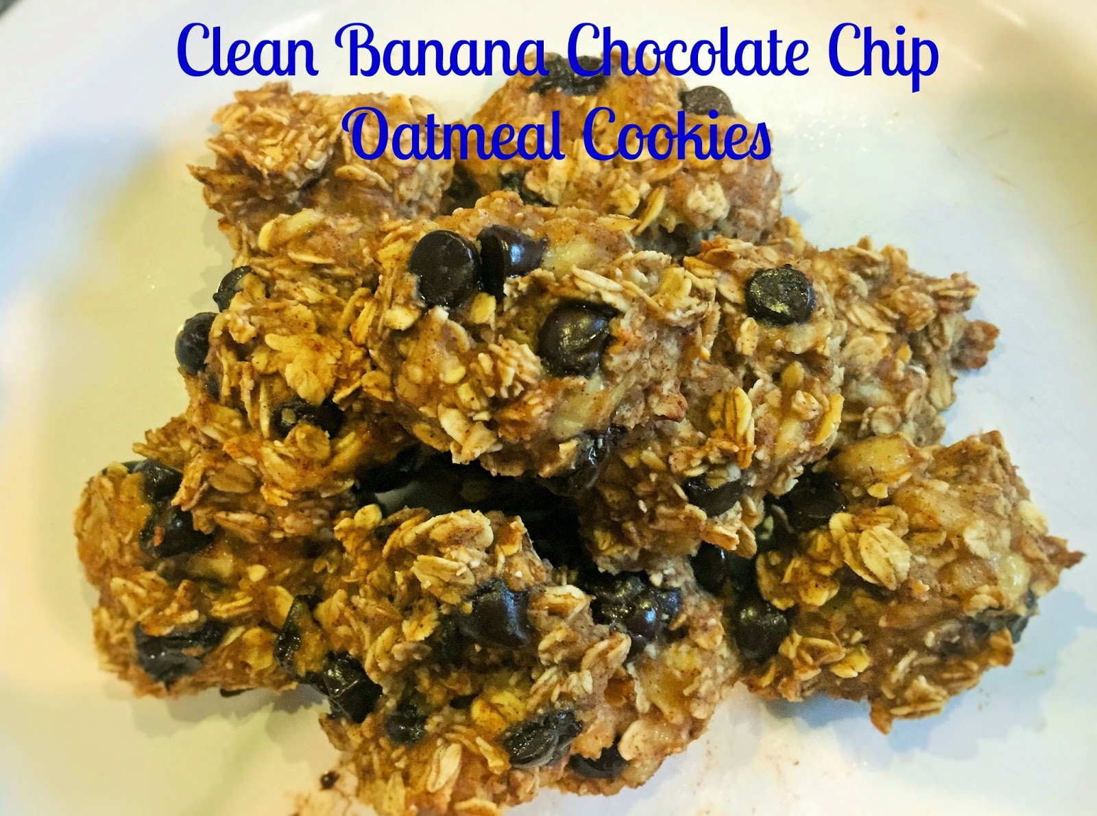 Healthy Chocolate Chip Oatmeal Cookies  Healthy Chocolate Chip Oatmeal Cookies Focused on Fitness