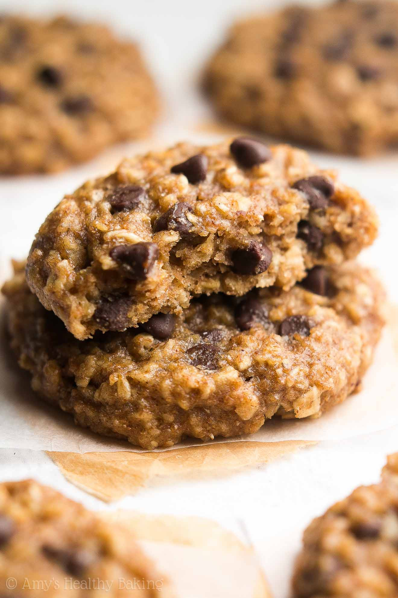 Healthy Chocolate Chip Oatmeal Cookies  Chocolate Chip Eggnog Oatmeal Cookies