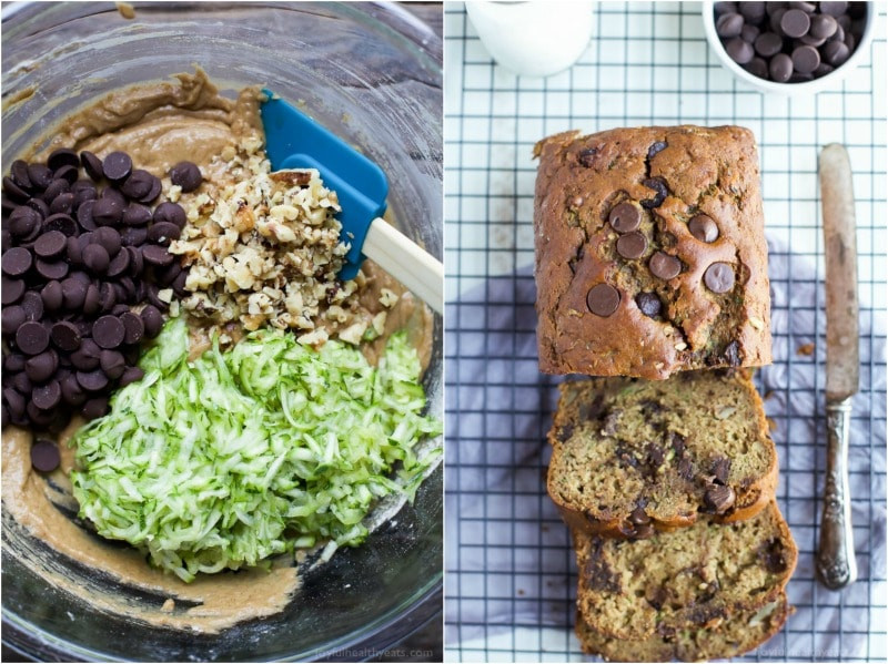 Healthy Chocolate Chip Zucchini Bread  healthy chocolate chip zucchini bread
