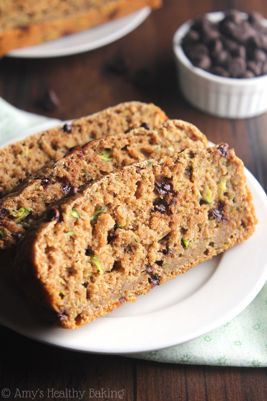 Healthy Chocolate Chip Zucchini Bread  Whole Wheat Chocolate Chip Zucchini Bread