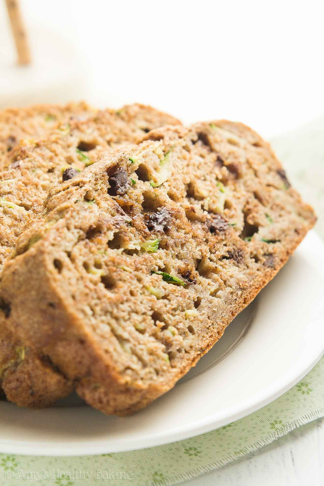 Healthy Chocolate Chip Zucchini Bread  Healthy Chai Spice Chocolate Chip Zucchini Bread