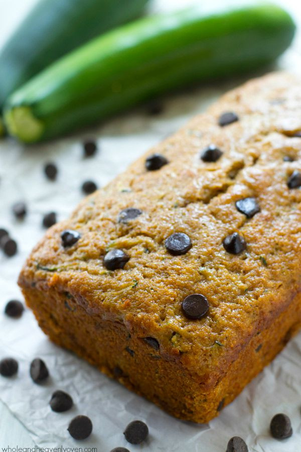 Healthy Chocolate Chip Zucchini Bread  Healthy Dark Chocolate Chip Zucchini Bread