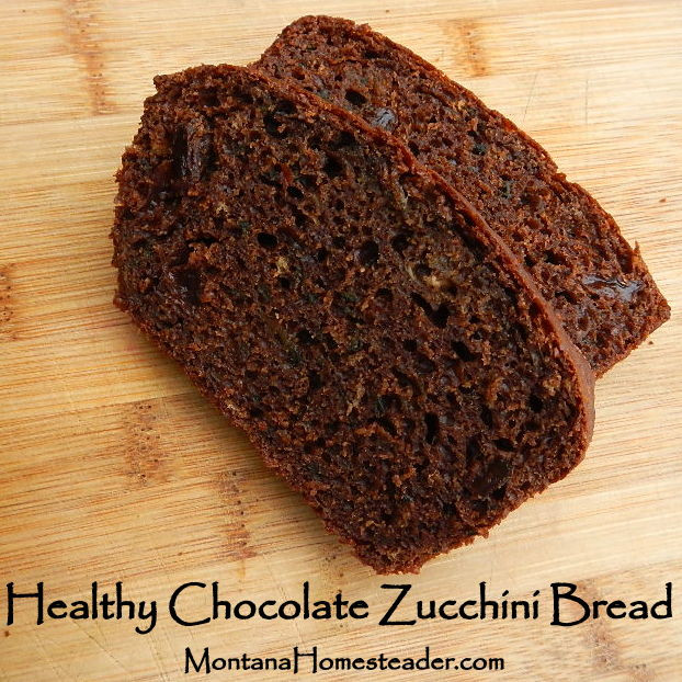 Healthy Chocolate Chip Zucchini Bread  Healthy Chocolate Zucchini Bread