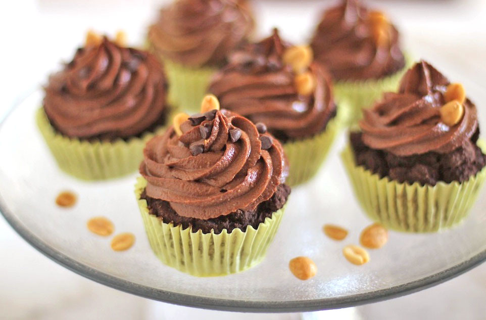 Healthy Chocolate Cupcakes  Recipe Healthy Chocolate Cupcakes with Peanut Butter