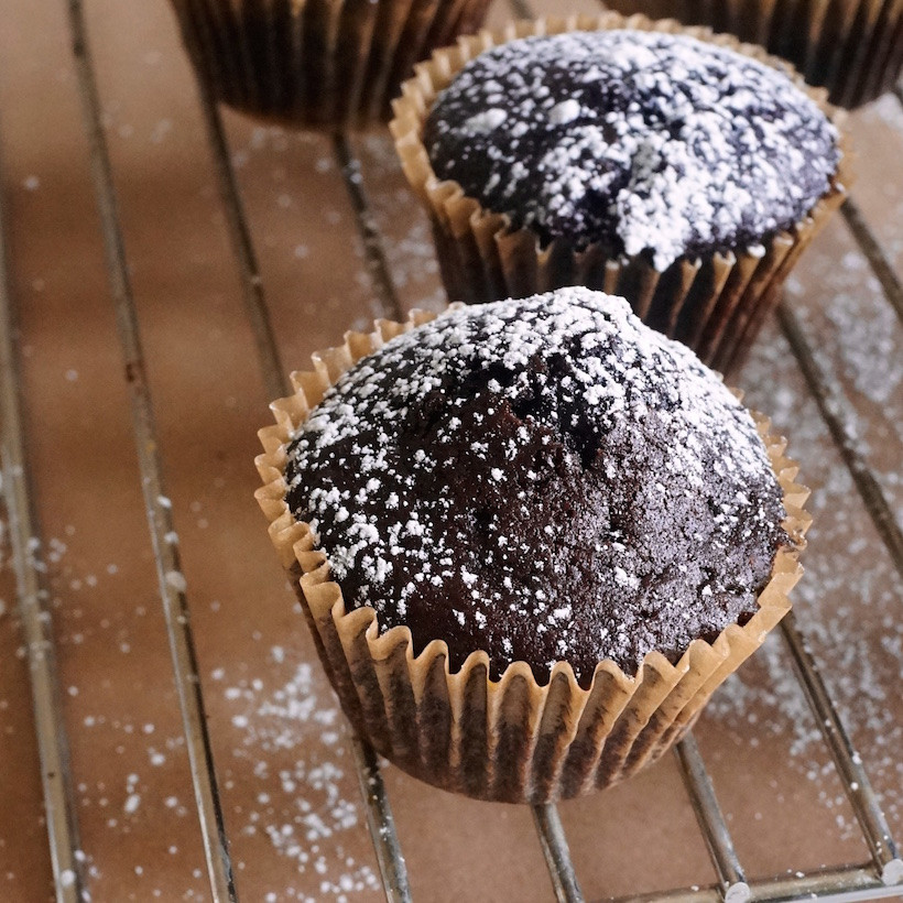 Healthy Chocolate Cupcakes  Healthy Chocolate Cupcakes Camille Styles
