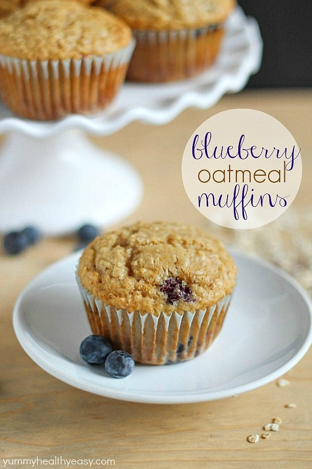Healthy Chocolate Muffins Oatmeal  Blueberry Oatmeal Muffins Yummy Healthy Easy
