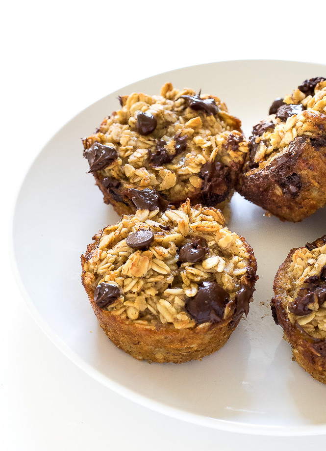 Healthy Chocolate Muffins Oatmeal  Healthy Banana Chocolate Chip Oatmeal Muffins Chef Savvy