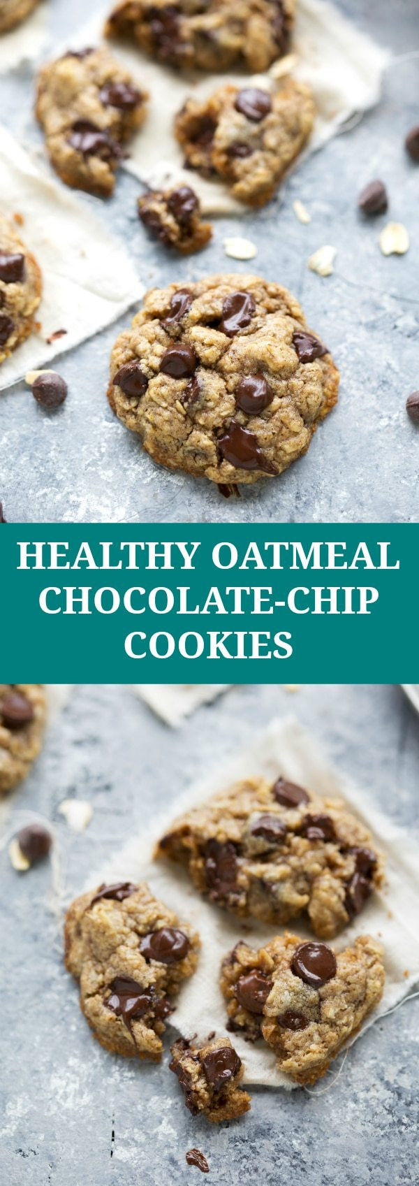 Healthy Chocolate Oatmeal Cookies  The BEST healthy oatmeal chocolate chip cookies Chelsea