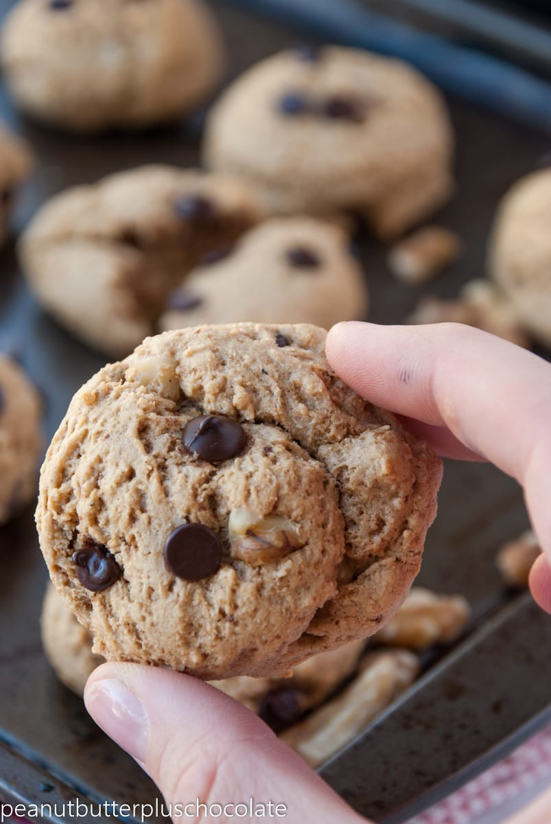 Healthy Chocolate Peanut Butter Cookies  Healthy Chocolate Chip Peanut Butter Walnut Cookies